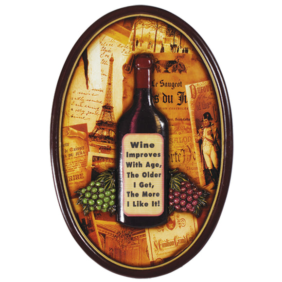 WINE IMPROVES WITH AGE - WALL SIGN, Wall Signs, RAM Gameroom - The Luxury Man Cave