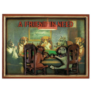 PUB SIGN-POKER DOGS-A FRIEND IN NEED, Wall Signs, RAM Gameroom - The Luxury Man Cave