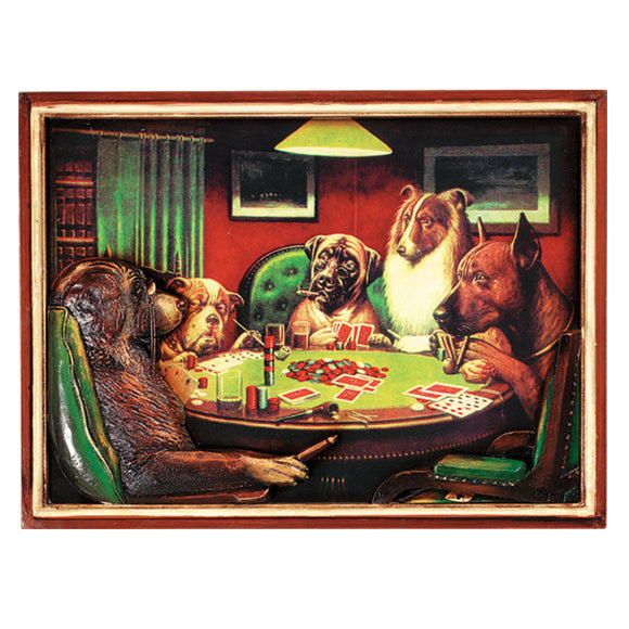 PUB SIGN-POKER DOGS W/ CIGARS, Wall Signs, RAM Gameroom - The Luxury Man Cave