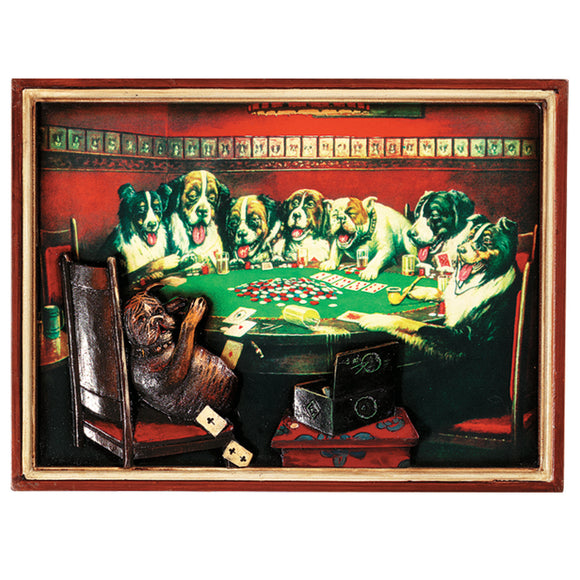 PUB SIGN-POKER DOGS-CARDS UNDER TABLE, Wall Signs, RAM Gameroom - The Luxury Man Cave