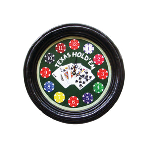 TEXAS HOLD'EM CLOCK, Wall Signs, RAM Gameroom - The Luxury Man Cave