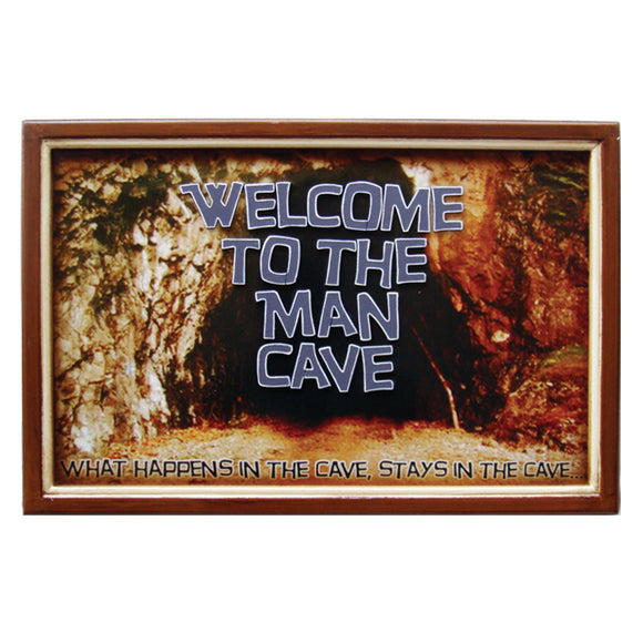 WELCOME TO THE MAN CAVE, Wall Signs, RAM Gameroom - The Luxury Man Cave