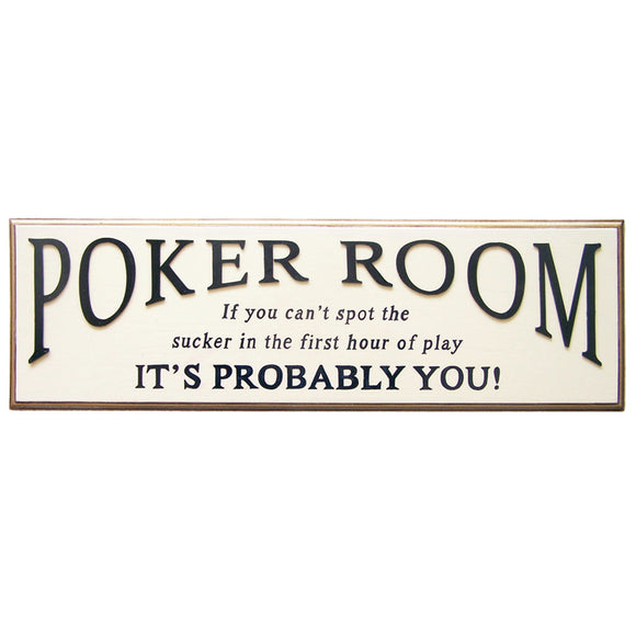 POKER ROOM, Wall Signs, RAM Gameroom - The Luxury Man Cave