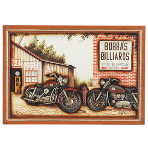 PUB SIGN-BUBBA'S BILLIARDS, Wall Signs, RAM Gameroom - The Luxury Man Cave