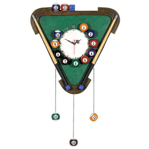 PUB SIGN-BILLIARDS CLOCK, Wall Signs, RAM Gameroom - The Luxury Man Cave