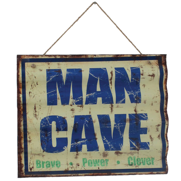METAL SIGN-MAN CAVE, Wall Signs, RAM Gameroom - The Luxury Man Cave