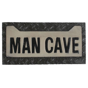 METAL SIGN-MAN CAVE LICENSE PLATE, Wall Signs, RAM Gameroom - The Luxury Man Cave