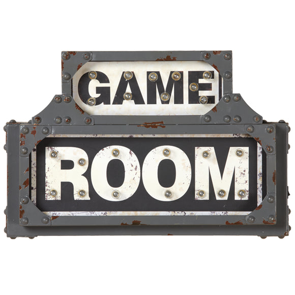 METAL SIGN-GAME ROOM, Wall Signs, RAM Gameroom - The Luxury Man Cave