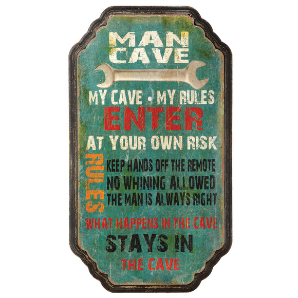 MY CAVE MY RULES, Wall Signs, RAM Gameroom - The Luxury Man Cave