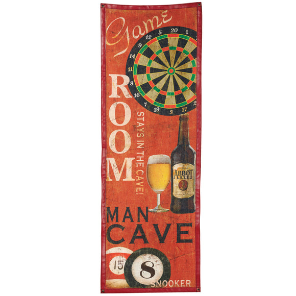 CANVAS-GAME ROOM, Wall Signs, RAM Gameroom - The Luxury Man Cave