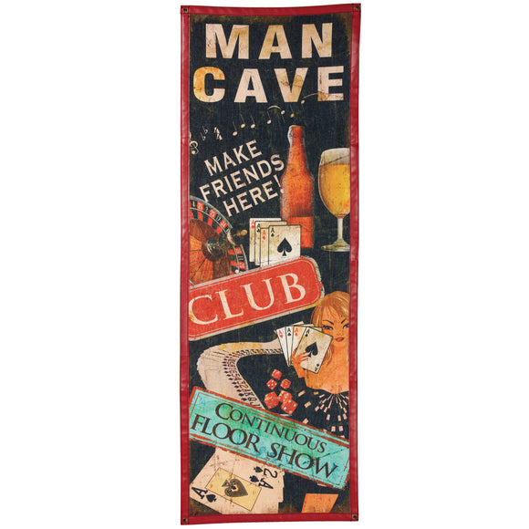 CANVAS-MAN CAVE, Wall Signs, RAM Gameroom - The Luxury Man Cave