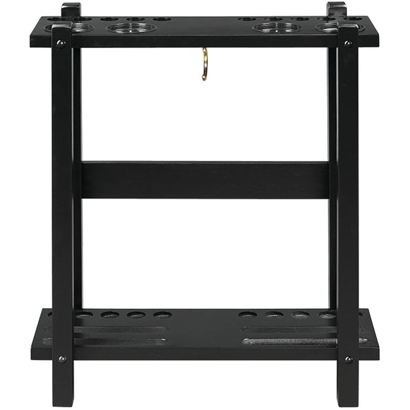 STRAIGHT FLOOR CUE RACK-BLACK by RAM Gameroom, Cue Holder, RAM Gameroom - The Luxury Man Cave
