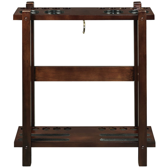 STRAIGHT FLOOR CUE RACK-CAPPUCCINO by RAM Gameroom, Cue Holder, RAM Gameroom - The Luxury Man Cave