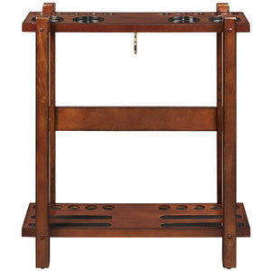 STRAIGHT FLOOR CUE RACK-CHESTNUT by RAM Gameroom, Cue Holder, RAM Gameroom - The Luxury Man Cave