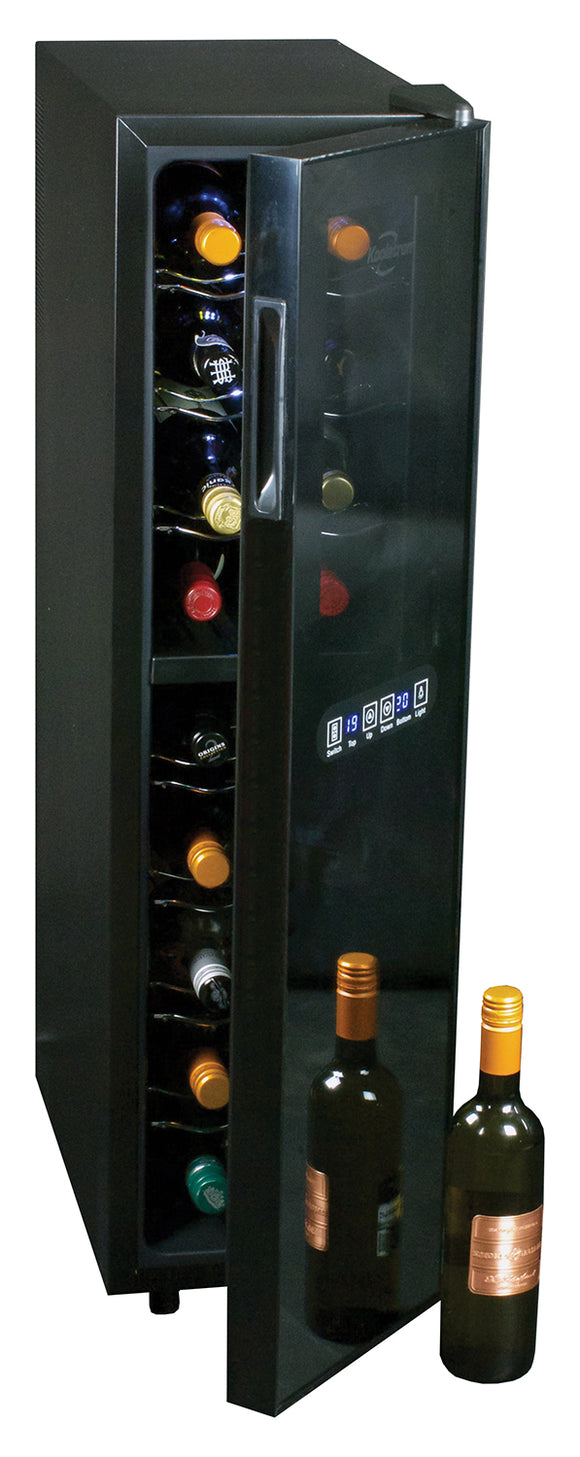18-bottle Dual Zone Mirrored Glass Wine Cellar, Wine Cooler, Koolatron - The Luxury Man Cave