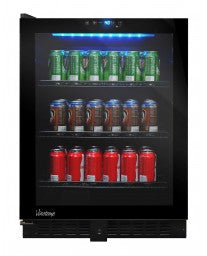 VT-54 Touch Screen Beverage Cooler (Left Hinge) by Vinotemp, Beverage Refrigerator, Vinotemp - The Luxury Man Cave