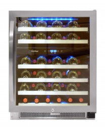 46-Bottle Dual-Zone Connoisseur Series Wine Cooler (Stainless) by Vinotemp, Wine Cooler, Vinotemp - The Luxury Man Cave
