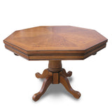 Kingston Dark Oak 3-in-1 Poker Table w/ 4 Arm Chairs  by Hathaway, Poker Tables, Carmelli - The Luxury Man Cave