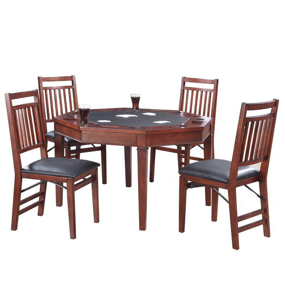 Broadway 48-in Folding Poker Table & Chairs Set by Carmelli, Poker Tables, Carmelli - The Luxury Man Cave