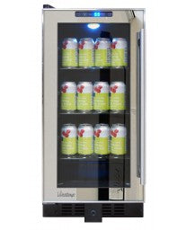 Mirrored Trim Beverage Cooler by Vinotemp, Wine Cooler, Vinotemp - The Luxury Man Cave