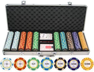 Monte Carlo 500-Piece Poker Set by Carmelli, Board Game, Carmelli - The Luxury Man Cave