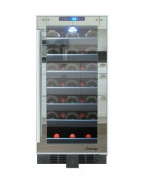 33-Bottle Touch Screen Mirrored Wine Cooler by Vinotemp, Wine Cooler, Vinotemp - The Luxury Man Cave