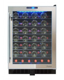 54-Bottle Touch Screen Mirrored Wine Cooler by Vinotemp, Wine Cooler, Vinotemp - The Luxury Man Cave
