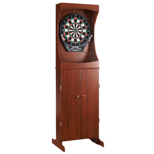 Outlaw Free Standing Dartboard & Cabinet Set - Cherry Finish by Carmelli, Dartboard, Carmelli - The Luxury Man Cave