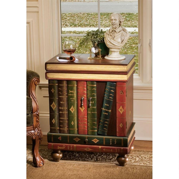 The Lord Byron Wooden Side Table by Design Toscano, End Tables, Design Toscano - The Luxury Man Cave