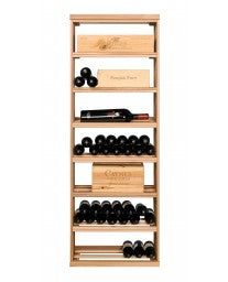 Apex 6' Wood Case & Open Bottle Bin Modular Wine Rack, Wine Rack, Vinotemp - The Luxury Man Cave