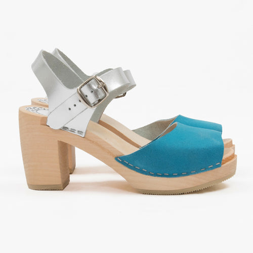 Turquoise and silver sandal