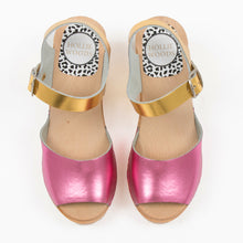 Pink and gold sandal
