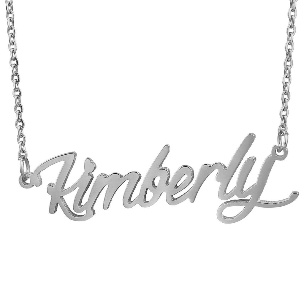 Sterling Silver Personalized Name Necklace with Name