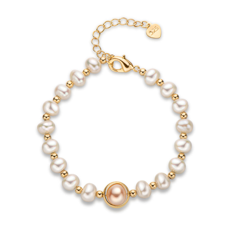 Planet Natural Cultured Freshwater Pearl Bracelet