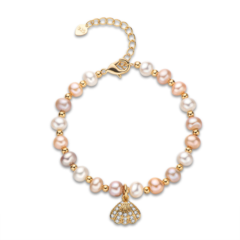 Shell Natural Cultured Freshwater Pearl Bracelet