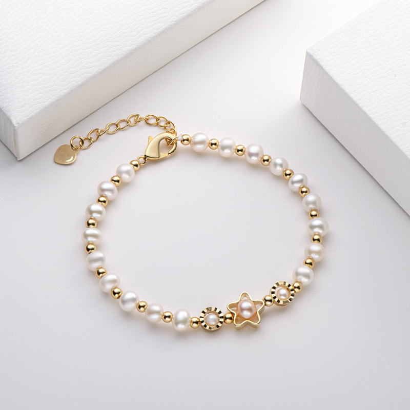 Star Natural Cultured Freshwater Pearl Bracelet
