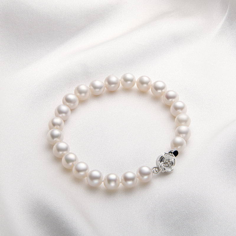 Rose Natural Cultured Freshwater Pearl Bracelet