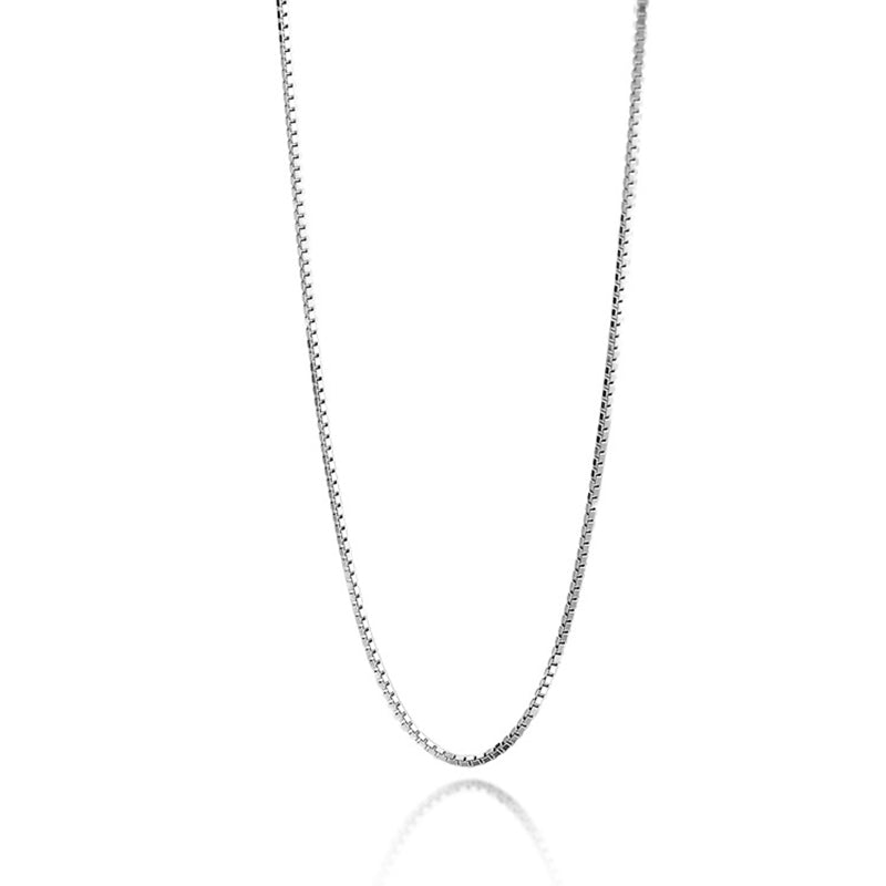 18K Gold Box Chain Necklace