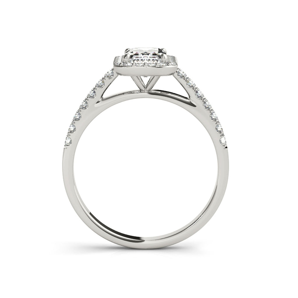 Halo Radiant Created White Diamond Ring