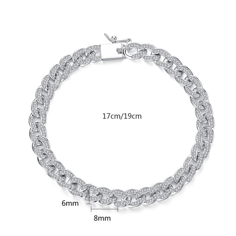 Round Cut Created Diamond Fashion Twisted Piece Bracelet