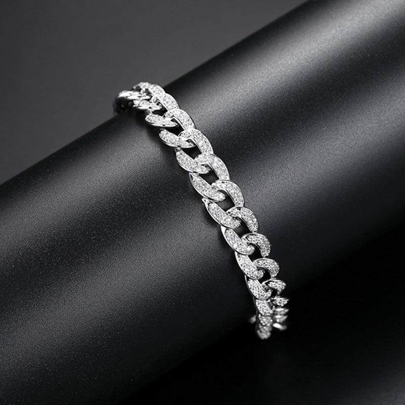 Round Cut Created Diamond  Thick Fashion Twist  Bracelet