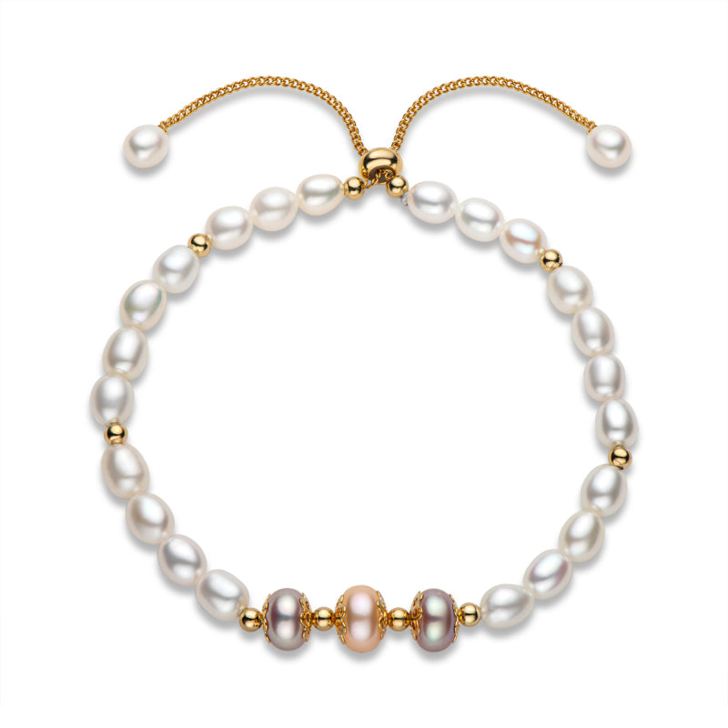 Natural Cultured Freshwater Pearl Bracelet Adjustable