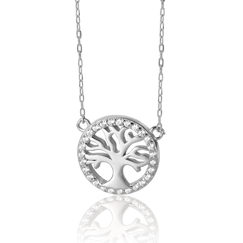 """Tree of Life"" 925 Sterling Silver Clavicle Necklace"