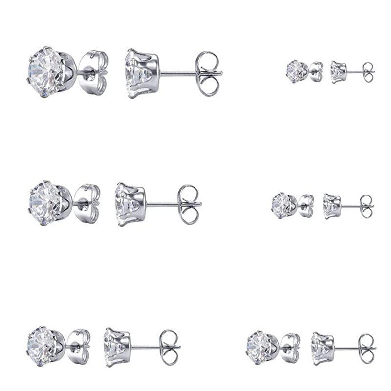 Classic Round Cut Created Diamond Stud Earrings