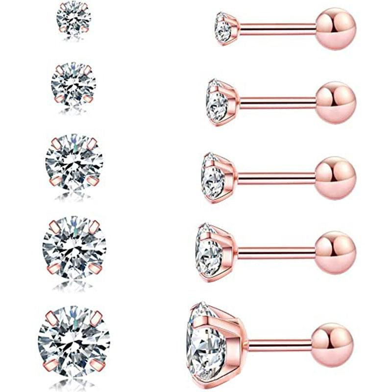Round Cut Created Diamond Stud Earrings