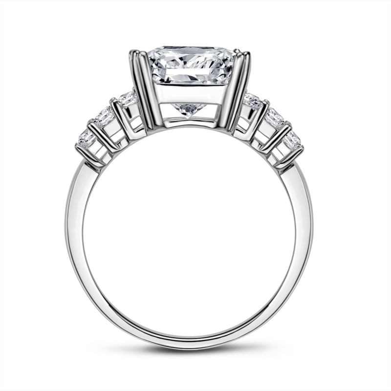 Emerald Cut Created White Diamond Ring