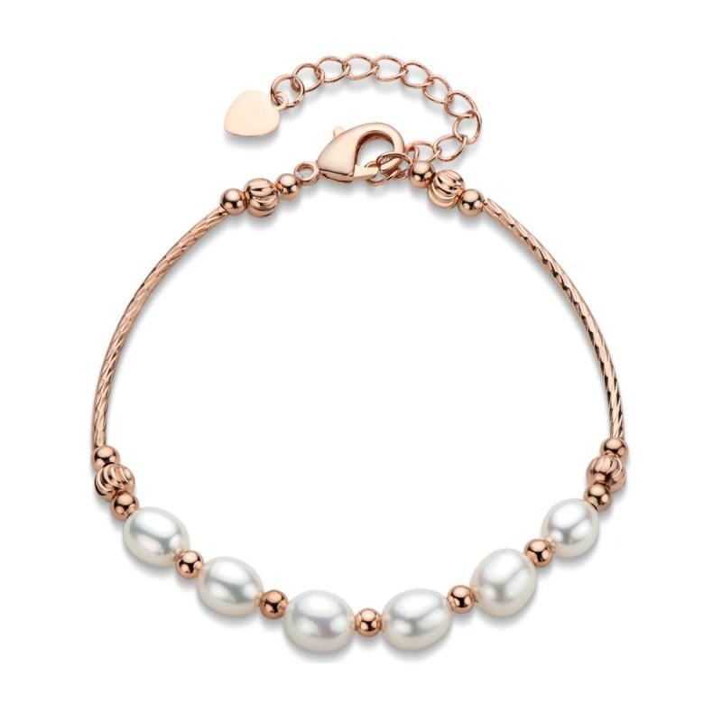 14K Gold Filled 6-7mm Natural Freshwater Pearl Bracelet