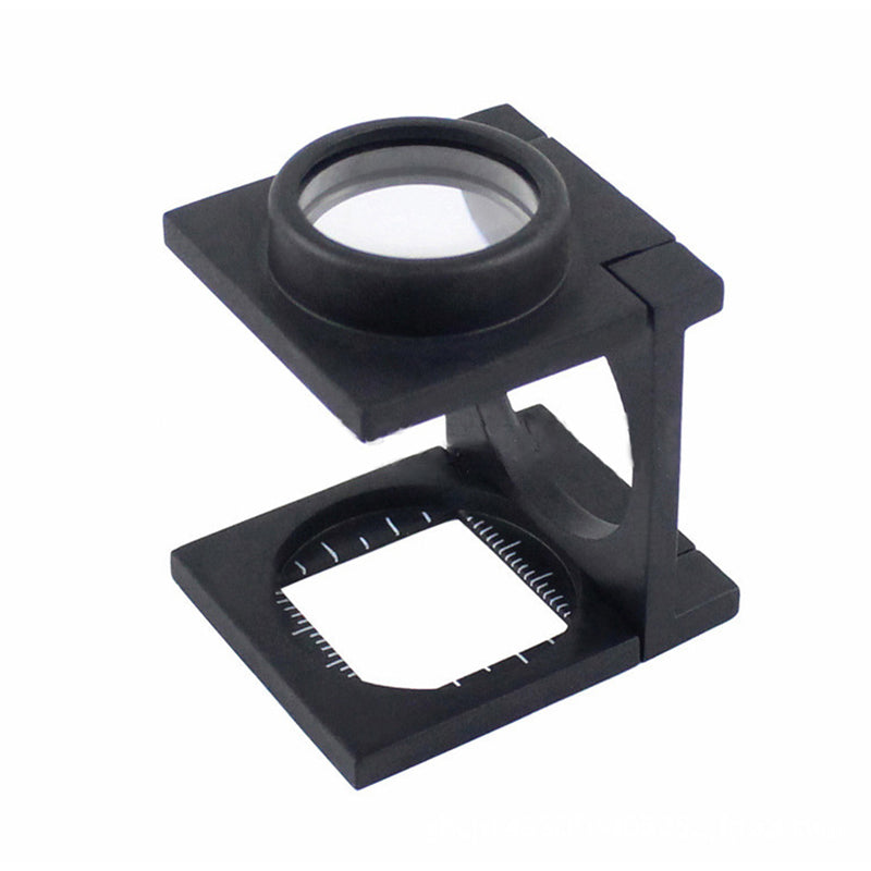 Black Magnifier Two K9 Optical Glass Lenses With Measuring Ruler