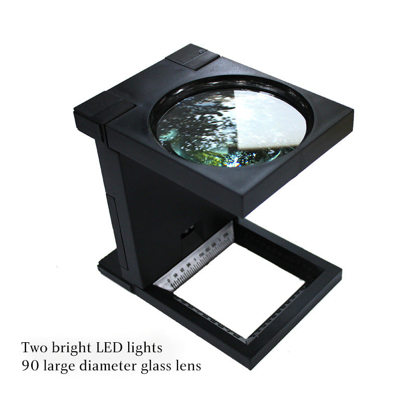 Folding 90mm Led Magnifying Glass Lamp Lighting Check Magnifying Glasses