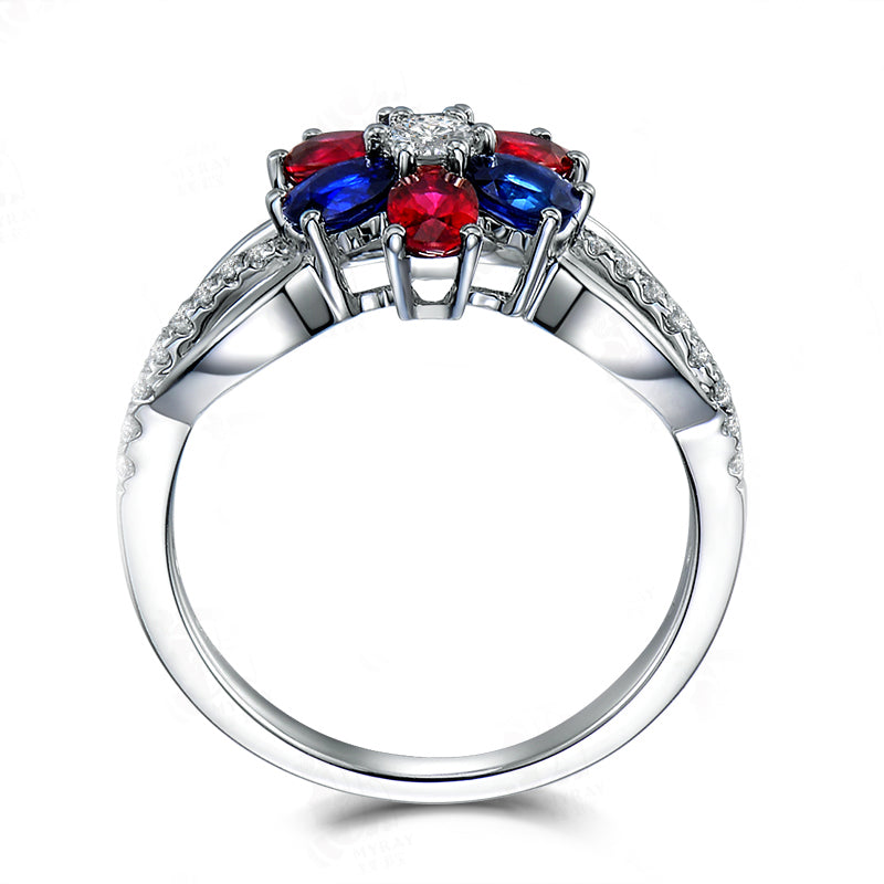 Color Oval Cut Created Diamond Rings